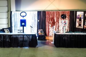 Double photo and video booth setup at an expo