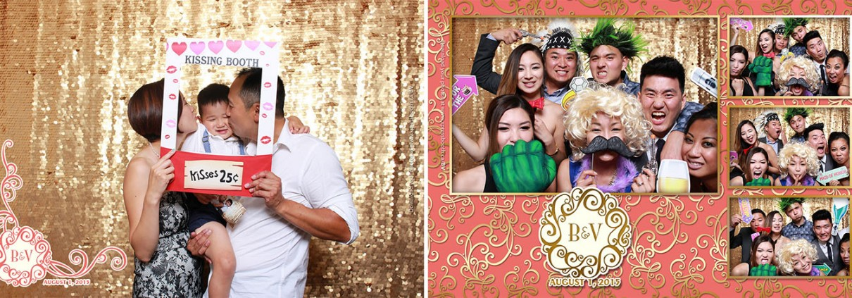 Photo booth pictures from Bonita & Vincent's wedding at the Regency Palace Restaurant