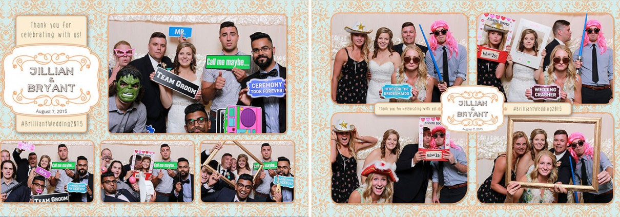 Photo booth pictures from Jillian & Bryant's wedding at Spruce Meadows