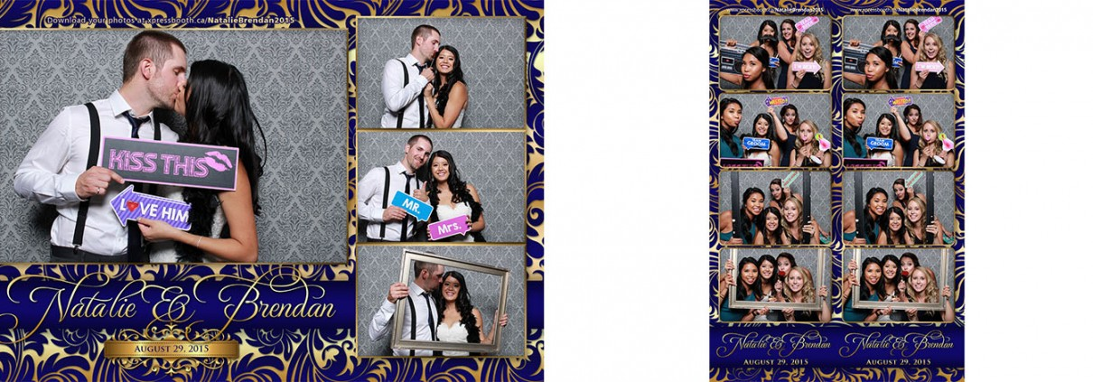 Natalie & Brendan's wedding - photo booth pictures