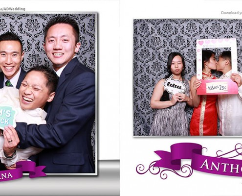 Photo booth pictures from Anthony & Diana's wedding at the Forbidden City Restaurant