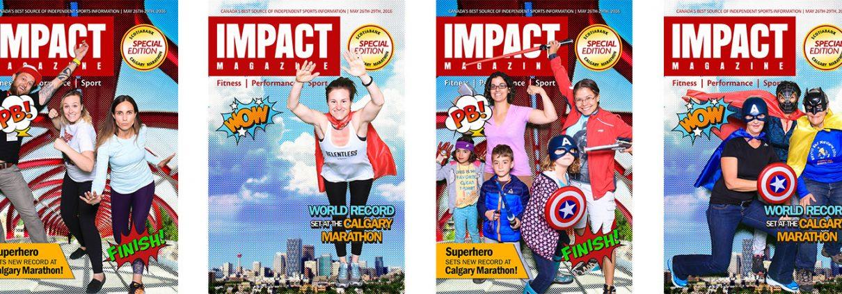Superhero Green Screen Photo Booth at the Calgary Marathon & IMPACT Magazine