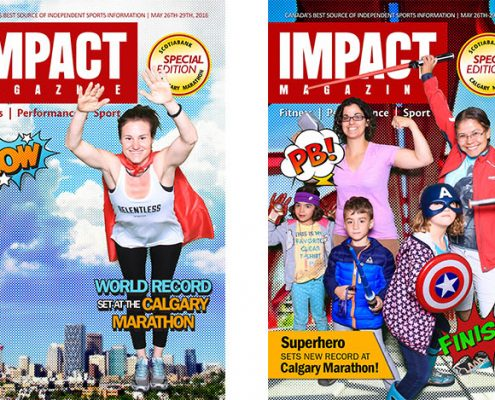 Superhero Green Screen Photo Booth at the Calgary Marathon & IMPACT Magazine