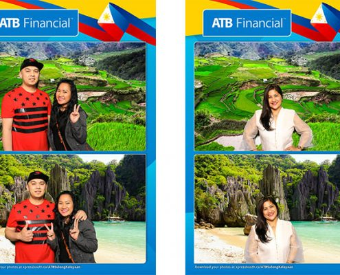 Green Screen Photo Booth with Trade Show Setup for ATB Financial at the Philippine Independence Day Celenration