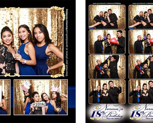 Photo Booth at Norma's 18th Birthday