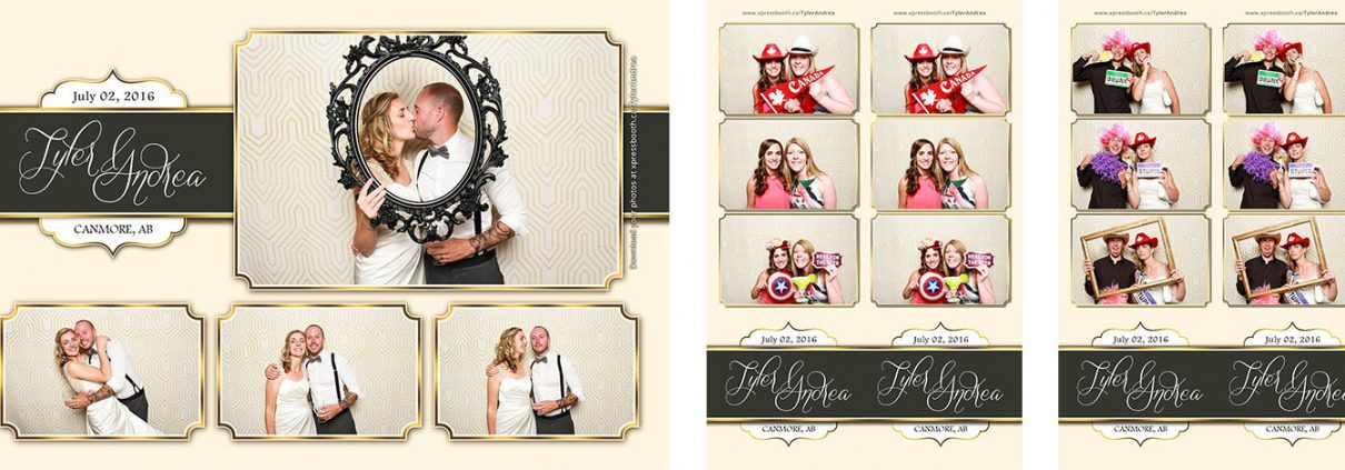 Tyler and Andrea's Wedding Photo Booth at the Canmore Coast Hotel