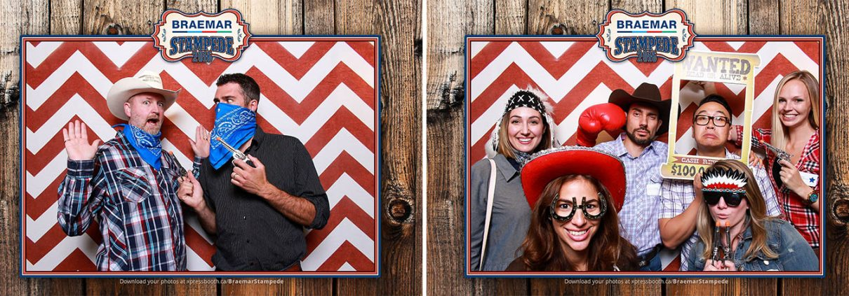 Braemar Company Stampede Party - western photo booth