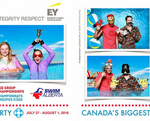 Swimming Canadian Age Group Championships Photo Booth Sponsored by Ernst & Young
