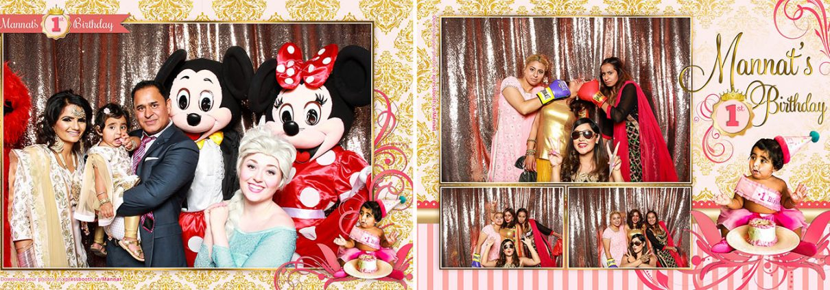 Photo Booth for a First Birthday Party at the Empire Banquet Hall