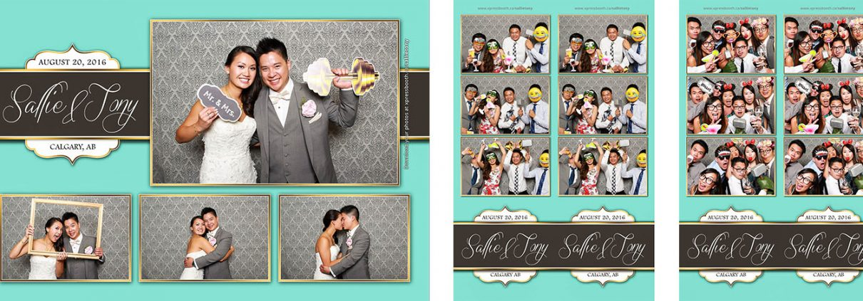 Sallie and Tony's Photo Booth at their Wedding at the Regency Palace in Calgary, AB
