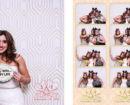 Joelle and Arthur's Wedding Photo Booth at the Q Haute Cuisine in Downtown Calgary