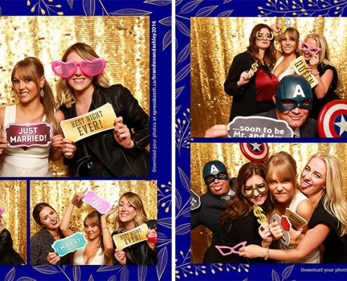Brandon and Ashley's Photo Booth at their wedding - Goldenrod Community Hall Balzac Alberta