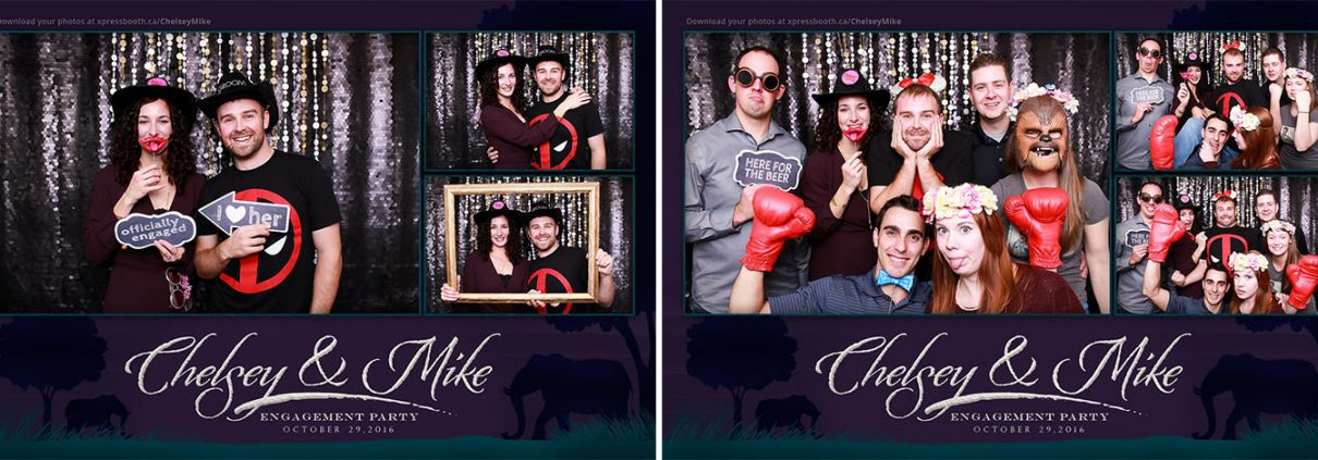 Photo booth pictures from Chelsey and Mike's Engagement Party