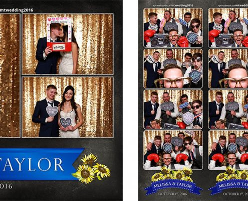 Melissa & Taylor's Wedding Photo Booth in Calgary