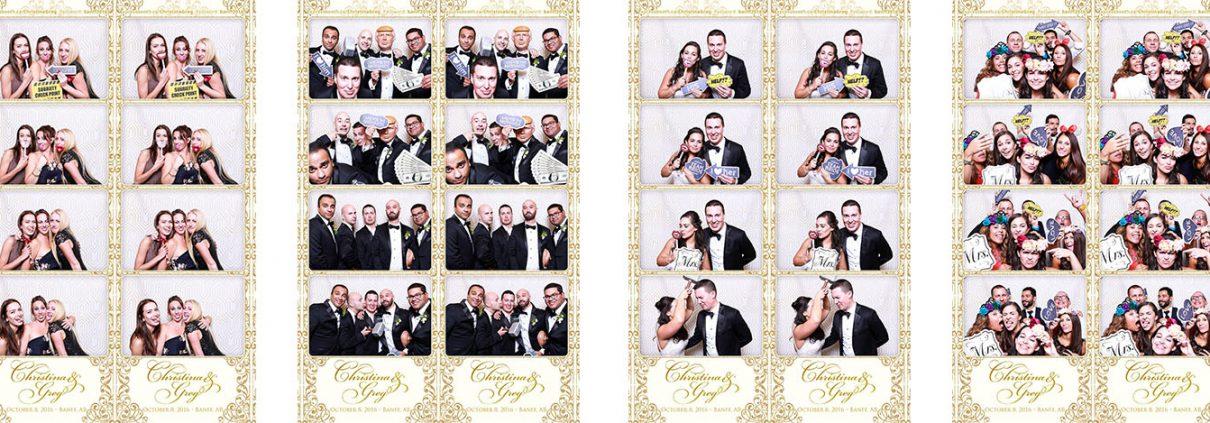Christina and Greg's Fairmont Banff Springs Wedding Photo Booth