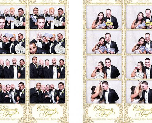 Christina and Greg's Fairmont Banff Springs Wedding Photo Booth