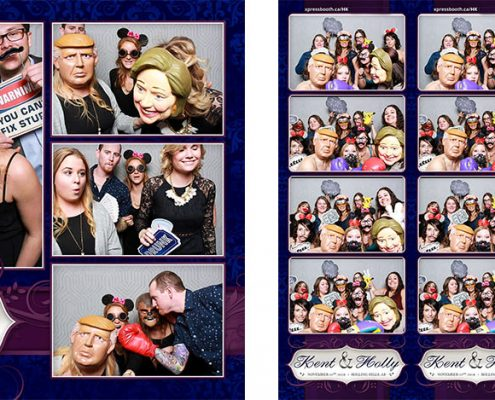 Photo booth at Holly and Kent's Wedding in Rolling Hills, AB