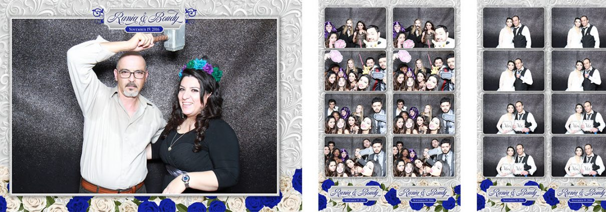 Photo booth pictures at Rania and Boudy's wedding at the Magnolia Banquet Hall