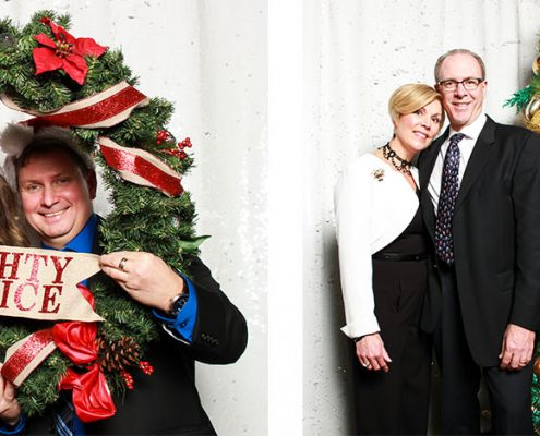 Bayer Christmas Party Photo Booth with Formal Portraits