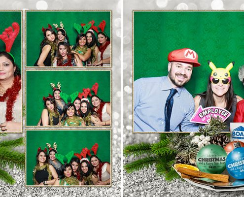 Boardwalk Christmas Party Photo Booth at the Metropolitan Centre in Downtown Calgary