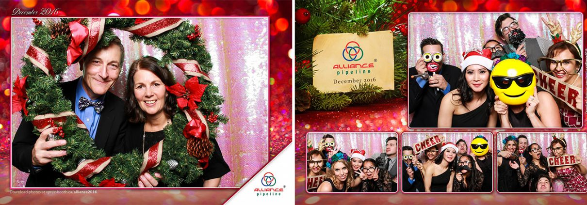 Alliance Pipeline Christmas Party Photo Booth at the Metropolitan Centre in Downtown Calgary