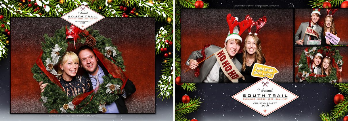 Christmas Party Photo Booth at the Delta Calgary South Hotel for South Trail Chrysler