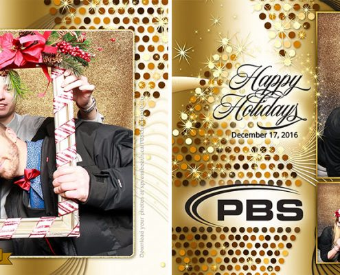 Gold Glitter Corporate Christmas Party Photo Booth for PBS