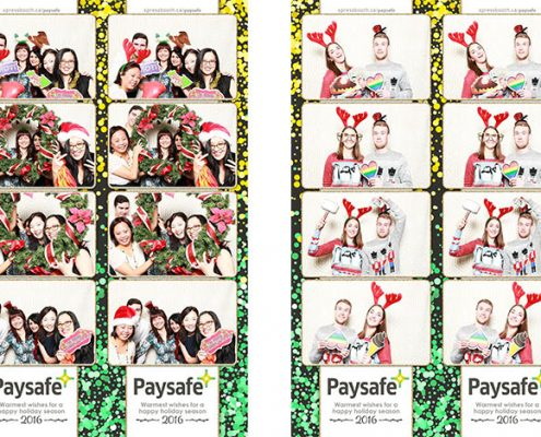 Paysafe Christmas Party Photo Booth at the Valley Ridge Golf Course