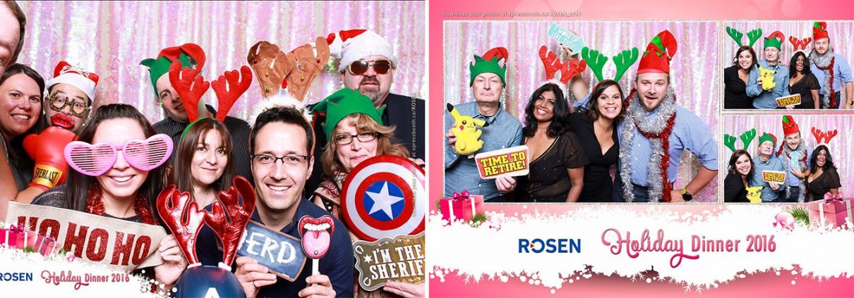 Rosen Christmas Party Photo Booth at the Booker's BBQ Grill and Crab Shack