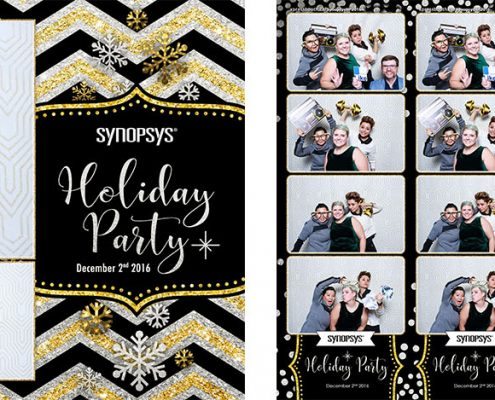 Synopsys Christmas Party Photo Booth at Teatro Restaurant Calgary