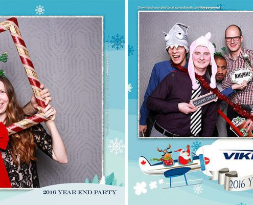 Viking Air Christmas Party Photo Booth at the Aerospace Museum in Calgary