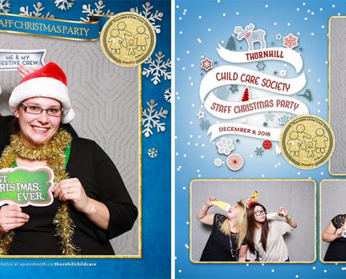 Thornhill Child Care Christmas Party Photo Booth at the Silverwing Links Golf Course