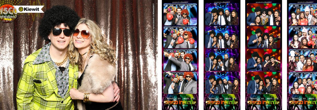 Kiewit Disco Inferno Two Photo Booth Setup at the Hyatt Regency Calgary