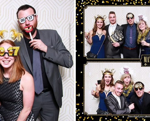 Matthew and Larissa's New Year's Eve Wedding Photo Booth at the Silver Springs Golf & Country Club