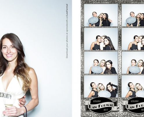 University of Calgary Law Formal Glam Photo Booth at the Hotel Arts