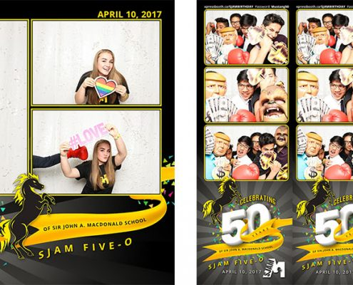 Photo Booth fun at SJAM Five-O Celebrating 50 Years of Sir John A. Macdonald School