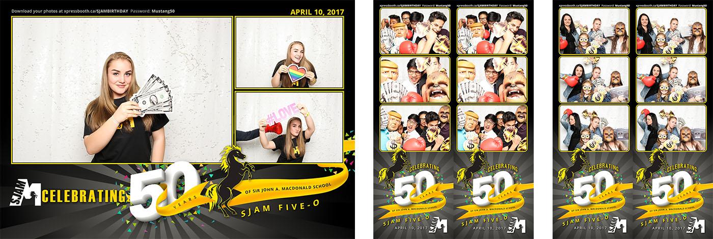 Photo Booth fun at SJAM Five-O Celebrating 50 Years of Sir John A. Macdonald School