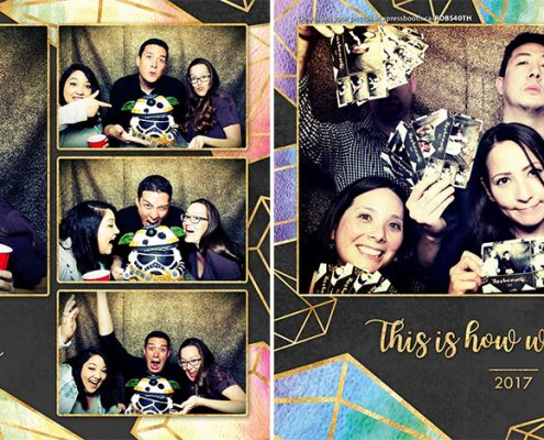 Black and Gold Glitter Photo Booth for 40th Birthday