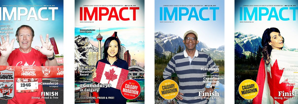 Canada 150 Green Screen and Boomerang Animated GIFs for Calgary Marathon and IMPACT Magazine