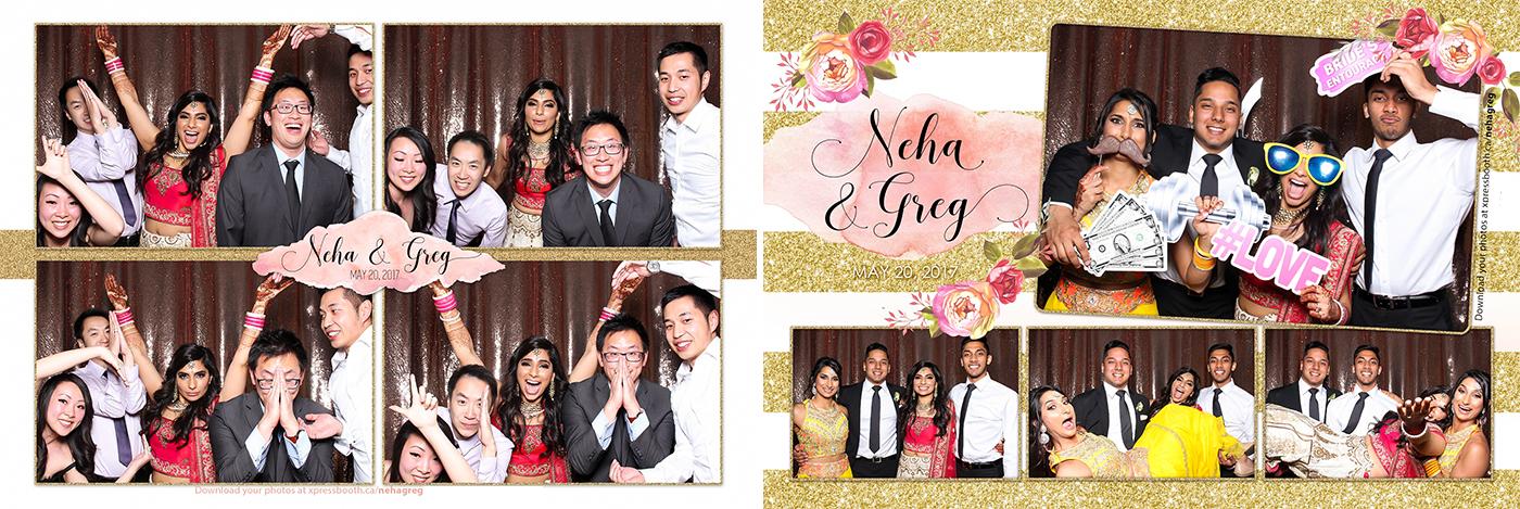 Photo Booth at Neha & Greg's Wedding at the Westin Hotel Calgary