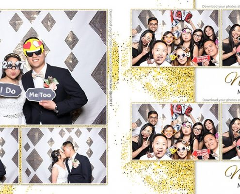 Nick & Jen Wedding Photo Booth with Gold and White theme