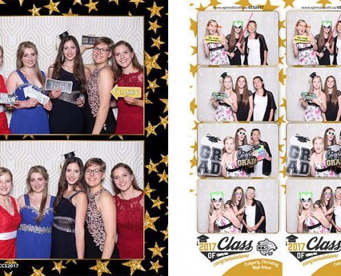 Graduation Photo Booth for Calgary Christian High School Prom at Winsport