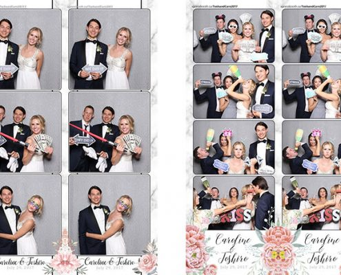 Caroline & Toshiro's Wedding Photo Booth at the Ranchmen's Club