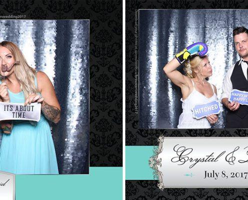 Crystal & David's Wedding Photo Booth at the Mahogany Beach Club in Calgary