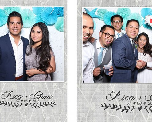 Rica & Chino's Wedding Photo Booth in Kelowna