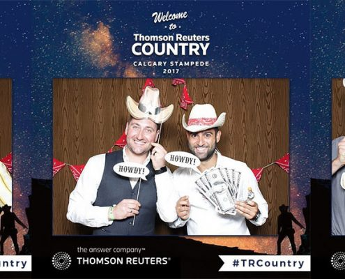 Calgary Stampede Photo Booth with Boomerang Animated GIF Video for Thomson Reuters