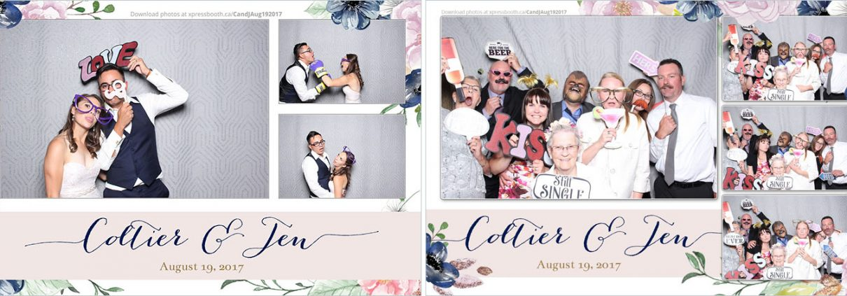 Coltier & Jen's Wedding Photo Booth at the Westin Calgary