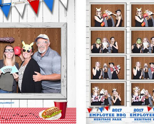 Heritage Park Calgary Employee BBQ Party Photo Booth