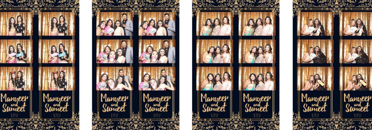 Manveer & Sumeet's Wedding Photo Booth at Magnolia Banquet Hall