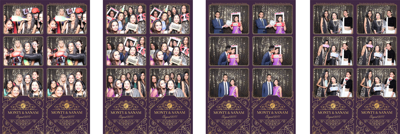 Monty and Sanam's Wedding Photo Booth at Civic on Third